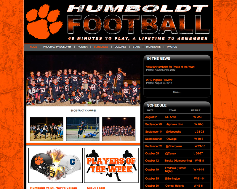image for humboldt football website