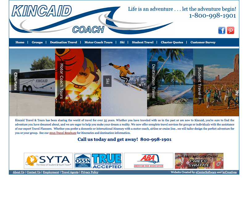 image of kincaid coach website