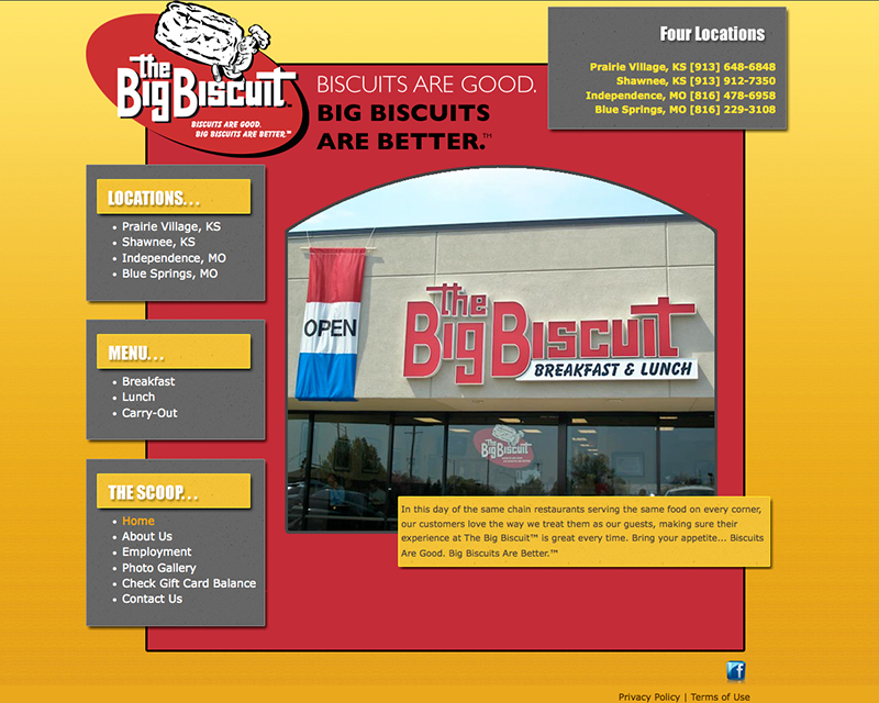 image of the big biscuit website