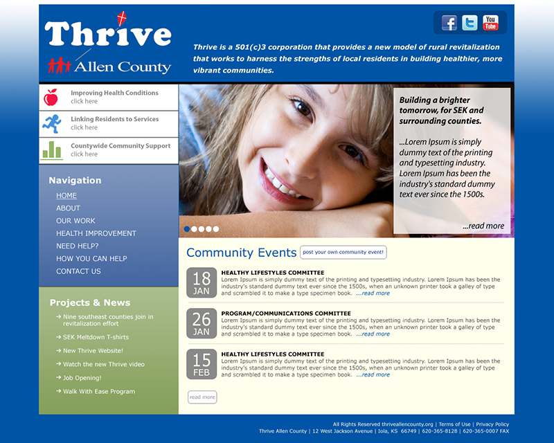 image of thrive allen county website