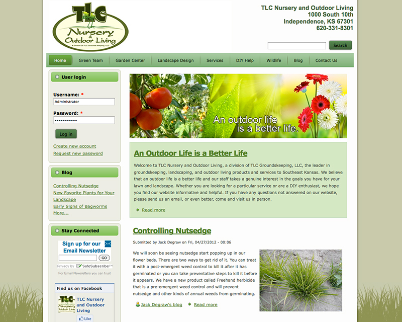 TLC Nursery | Independence, KS, Website Design and Implementation ...