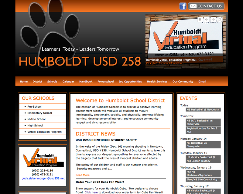 image of usd258 website